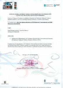 CONVOCATORIA ASEMBLEA XERAL EXTRAORDINARIA 1