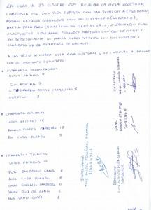 Acta mesa electoral 1