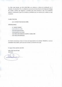 Certificado Secretaria Xunta Electoral