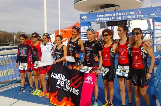 DÚAS PRATAS PARA O CIDADE DE LUGO FLUVIAL FEMININO NO CAMPIONATOS DE ESPAÑA DE DUATLÓN POR EQUIPOS E DE RELEVOS