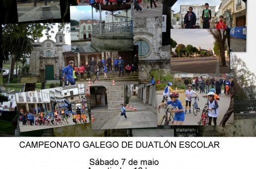 O CAMPIONATO GALEGO DE DÚATLON ESCOLAR CELEBRARASE O 7 DE MAIO EN MONDOÑEDO
