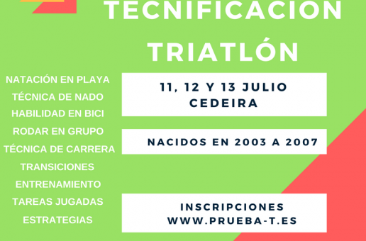 1º CAMPUS TECNIFICACIÓN TRÍATLON, CEDEIRA 2017
