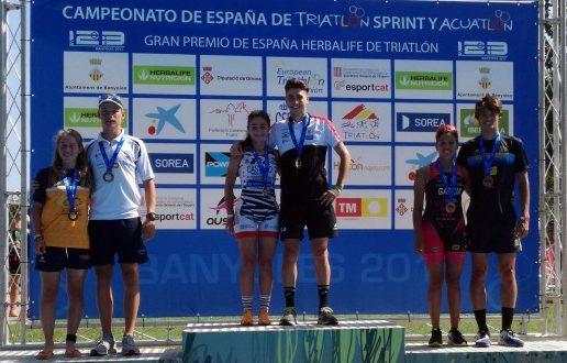 UXÍO ABUÍN (ELITE), CAMILA ALONSO (SUB 23) E INÉS CASTAÑO (JÚNIOR), CAMPIÓNS DE ESPAÑA DE TRIATLON SPRINT
