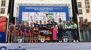 Cidade de Lugo Fluvial feminino, prata no Campionato de España de Dúatlon Contrarreloxo por equipos