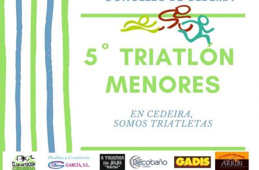 MÁIS DE 270 PARTICIPANTES NO V TRÍATLON DE MENORES DE CEDEIRA