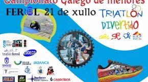 INSCRICIÓN TRIATLON DE MENORES DE FERROL – CAMPIONATO GALEGO (21-07-2018)