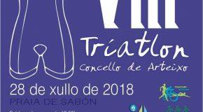 O SÁBADO 28 DE XULLO CELEBRARASE O VIII TRÍATLON CONCELLO DE ARTEIXO CON CASE 230 PARTICIPANTES