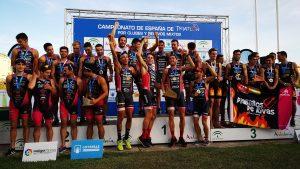 Podium Primera Division Masculina Clubes Triatlon