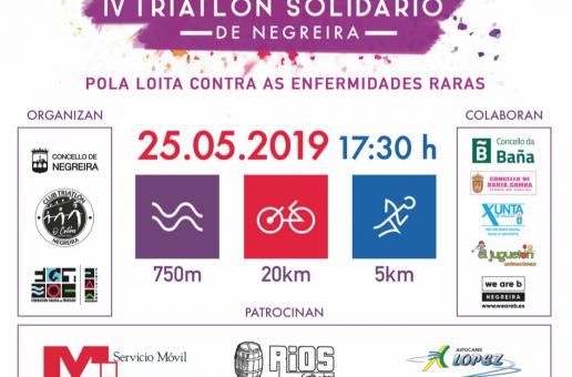 INSCRICIÓN IV TRÍATLON SOLIDARIO DE NEGREIRA (25/05/2019)