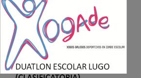 INSCRICIÓN DÚATLON ESCOLAR DE LUGO (CLAS) 23/02/2019