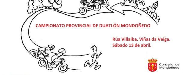 INSCRICIÓN DÚATLON ESCOLAR DE MONDOÑEDO (FINAL PROVINCIAL) 13/04/2019