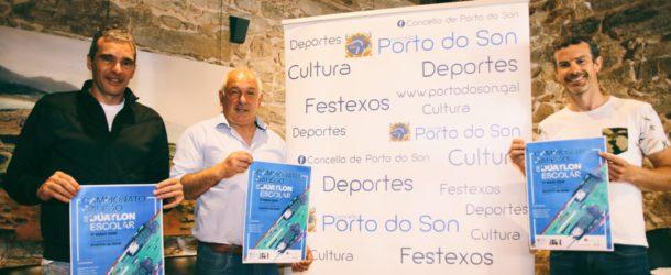 Porto do Son presenta o Campionato Galego de Dúatlon Escolar.