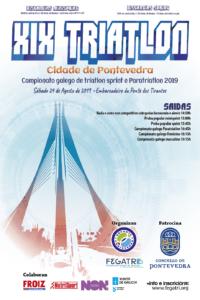 INSCRICIÓNS XIX TRÍATLON CIDADE DE PONTEVEDRA / CTO GALEGO 2019 (24/08/2019)