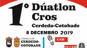 COMUNICADO ORGANIZACIÓN DÚATLON CROS CERDEDO-COTOBADE- CAMBIO DE DATA A 8 DE DECEMBRO