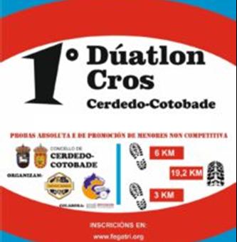 INSCRICIÓN I DÚATLON CROS CONCELLO CERDEDO-COTOBADE (08/12/2019)