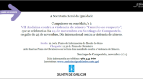 VII ANDAINA CONTRA A VIOLENCIA DE XÉNERO «CAMIÑO AO RESPECTO» (DOMINGO 24 DE NOVEMBRO ÁS 11:00 HORAS EN SANTIAGO DE COMPOSTELA)