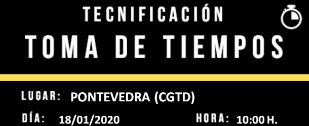 INSCRICIÓN PROVISIONAL TOMA DE TEMPOS DO PNTD 2020- PONTEVEDRA 18/01/2020