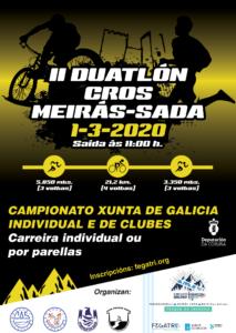 II Dúatlon Cros Meiras-Sada .- (Campionato Galego Xunta de Galicia)/ (Premio Inverno-Primavera de Dúatlon Cros)