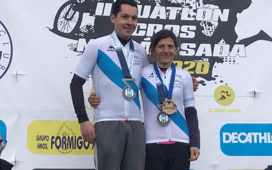 MARCOS MAYO E NURIA SENRA VENCEDORES DO CAMPIONATO XUNTA DE GALICIA DE DÚATLON CROS.