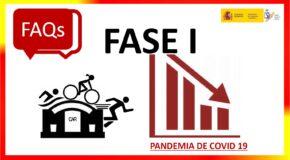 COVID-19.-  RESPOSTAS DO CSD  RESPECTO Á ACTIVIDADE DEPORTIVA NA FASE 1- ACTUALIZACIÓN  (11/05/2020)