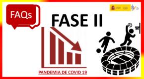 COVID-19.- RESPOSTAS DO CSD RESPECTO Á ACTIVIDADE DEPORTIVA NA FASE 2- ACTUALIZACIÓN (31/05/2020)