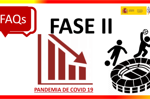 COVID-19.- RESPOSTAS DO CSD RESPECTO Á ACTIVIDADE DEPORTIVA NA FASE 2- ACTUALIZACIÓN (25/05/2020)