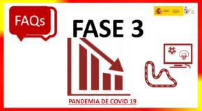COVID-19.- RESPOSTAS DO CSD RESPECTO Á ACTIVIDADE DEPORTIVA NA FASE 3- ACTUALIZACIÓN (8/06/2020)