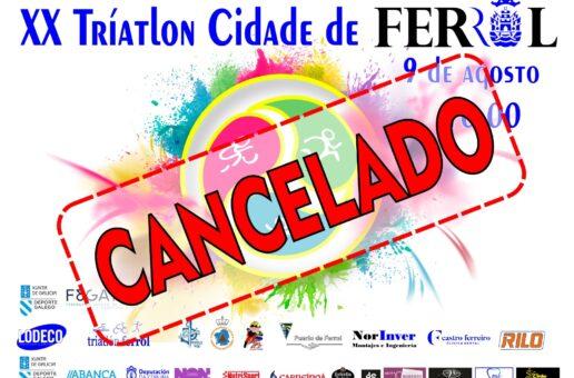 Cancelado o Triatlon Cidade de Ferrol 2020
