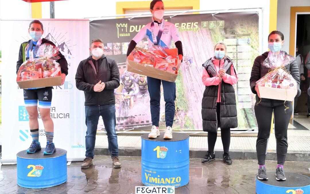Gabriel Castiñeira e Mar Delgado Campións Galegos de Dúatlon Cros