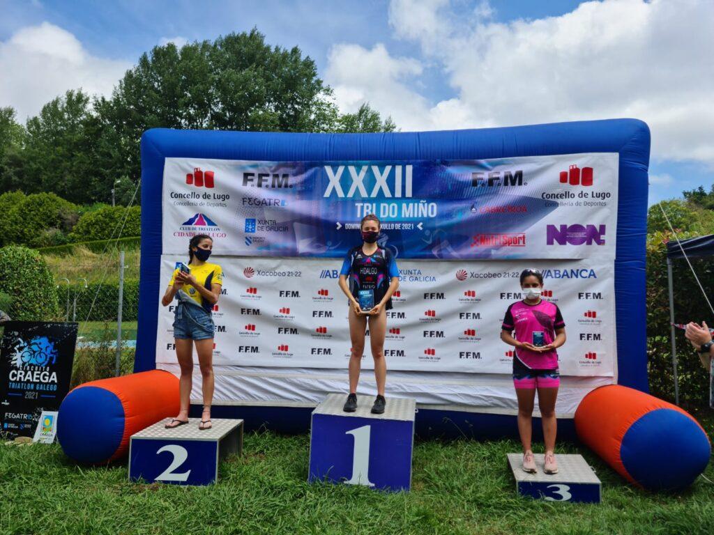 podio feminino-triatlon do miño