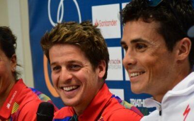 Saleta Castro e Pablo Dapena no Campionato do Mundo de Tríatlon Longa Distancia de Almere